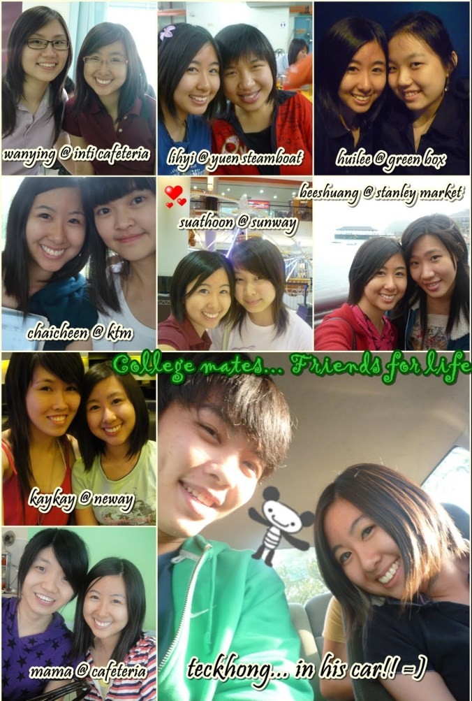 my college besties. two of them just graduated recently and the rest graduating next year ><
